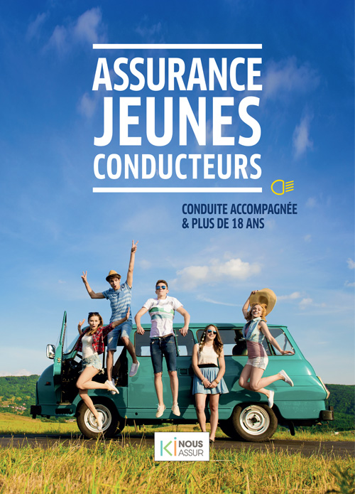 Flyer recto Assurance jeunes conducteurs KinouAssur
