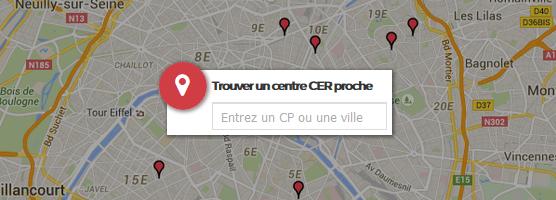 Rechercher un centre CER proche
